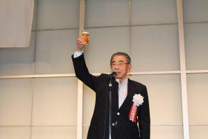 乾杯の発声は鈴木敏文名誉会長